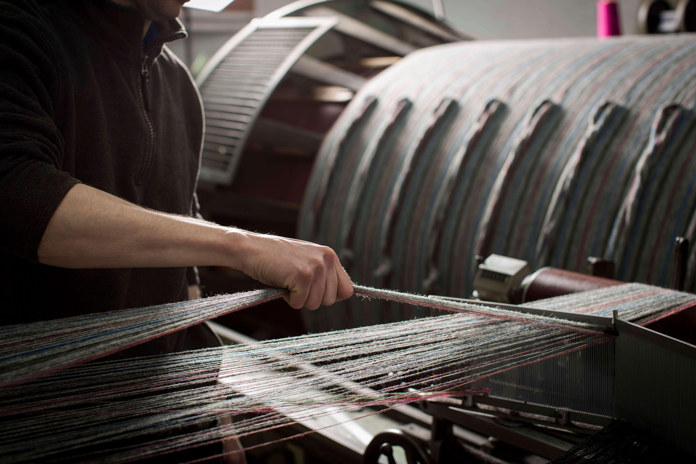Yarns on the loom